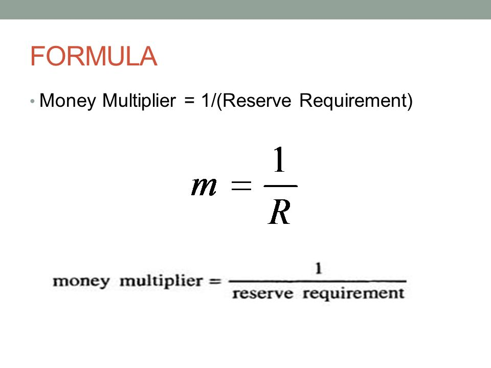 monetary money multiplier When money multipliers become divisors alternative title: the slow death of the money multiplier and that we are at the limits of what the monetary.