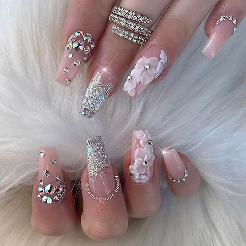 - Beauty, Makeup, Nail Arts: 20+Diamond Nail Art Design