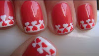Valentine Heart Nail Design