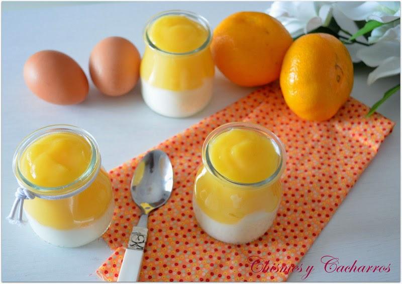Vasitos de griego con crema de naranja 2