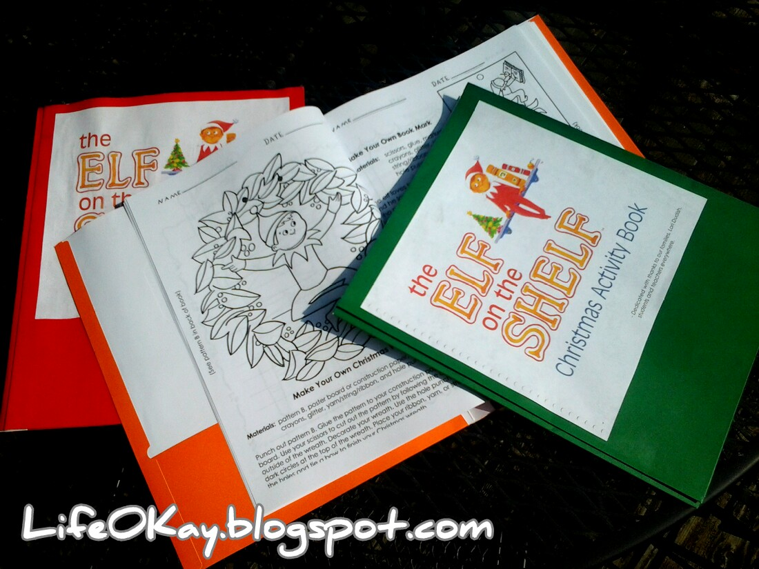 Life O Kay Elf On The Shelf Activity Book Folders
