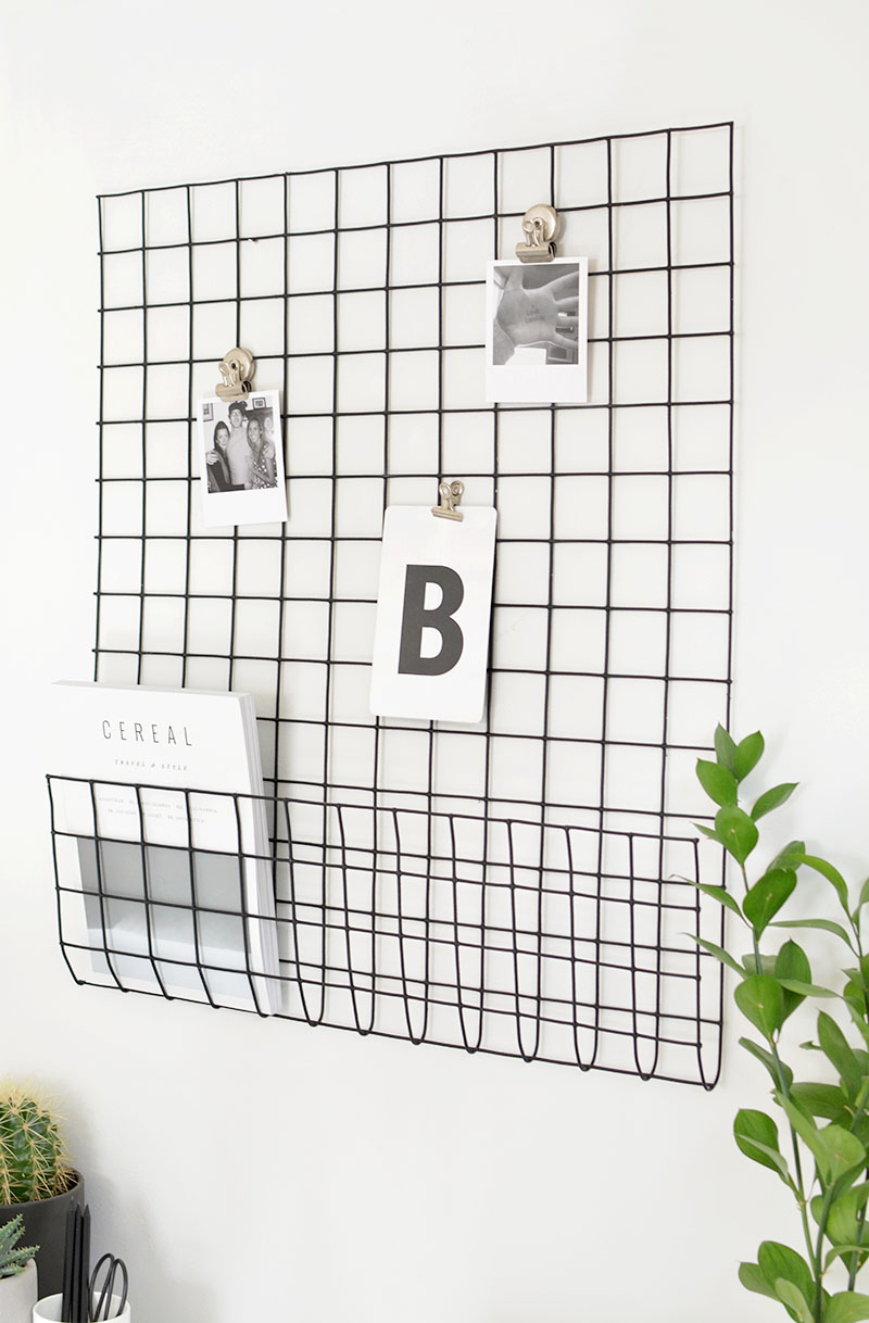 wire mesh wall grid diy