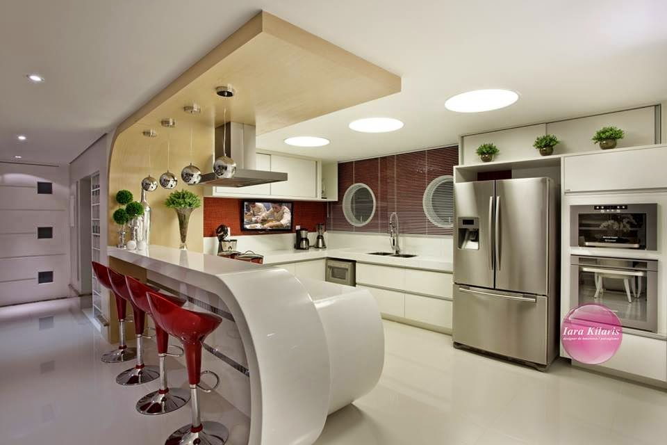 Construindo minha casa clean 21 cozinhas americanas - Banquetas para isla ...