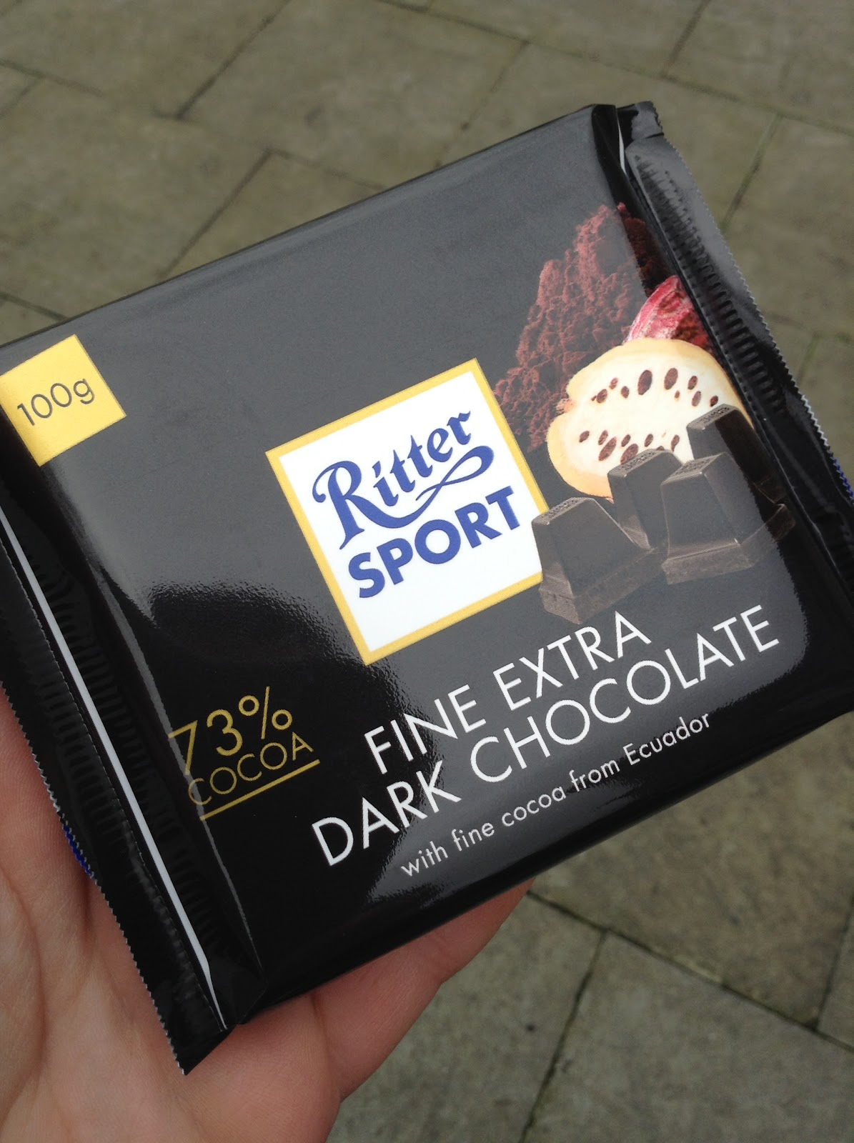Kev's Snack Reviews: Ritter Sport 73% Fine Extra Dark Chocolate