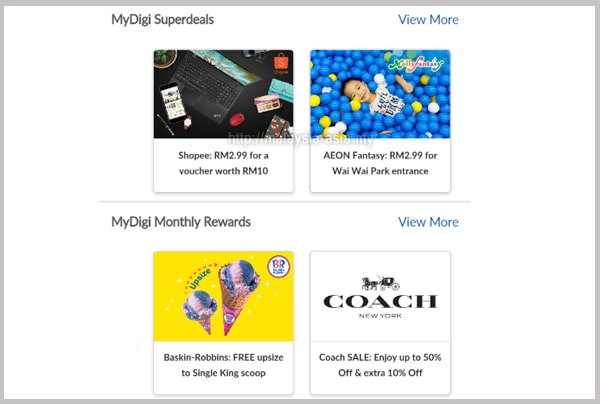 MyDiGi Monthly Rewards