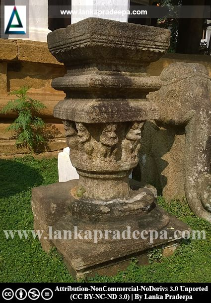 This stone table is believed to be used to exhibit the Tooth Relic