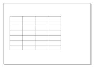Tabel Corel Draw