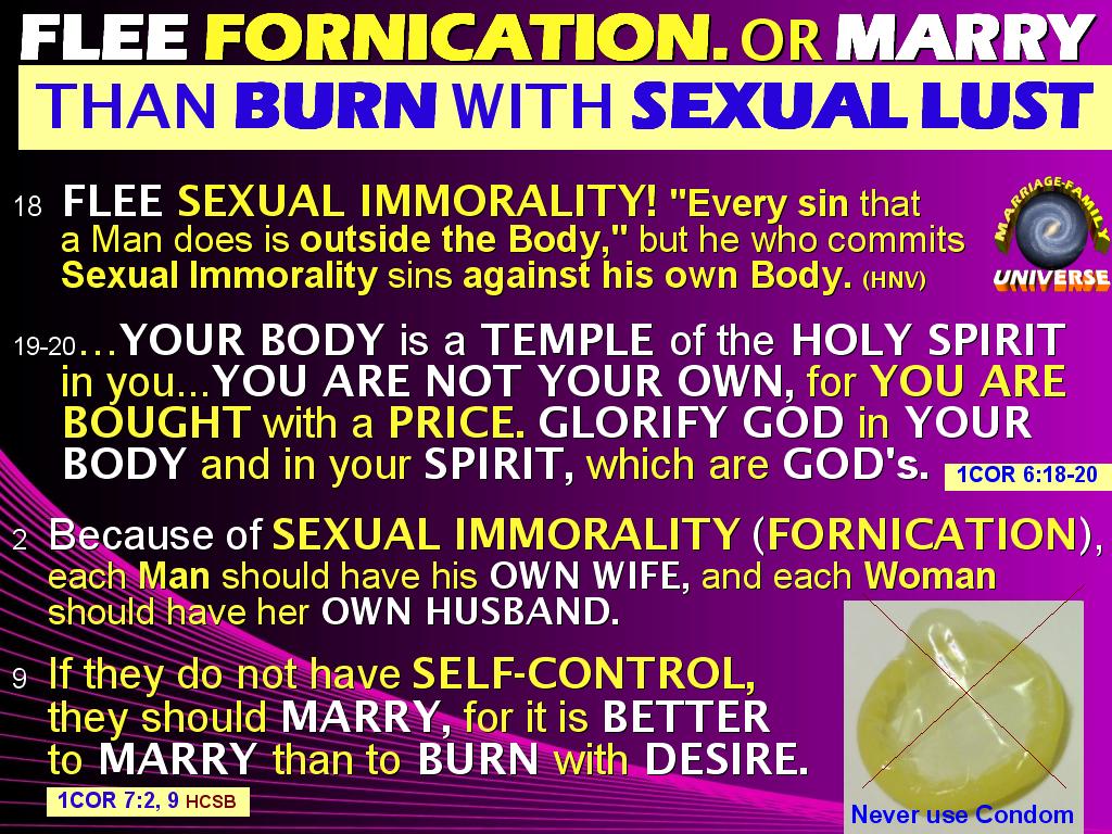 Bible masturbation wrong