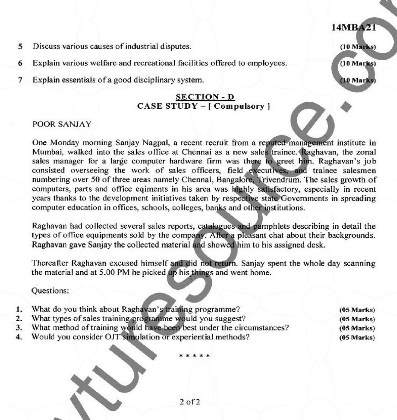 VTU MBA Question Paper – Page 2 – VTU Syllabus
