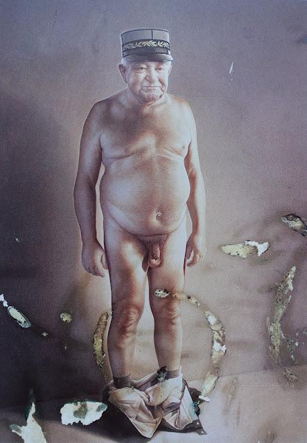 Plakat von Gottfried Helnwein für das Theater «Jeanmaire - ein Stück Schweiz», 1992