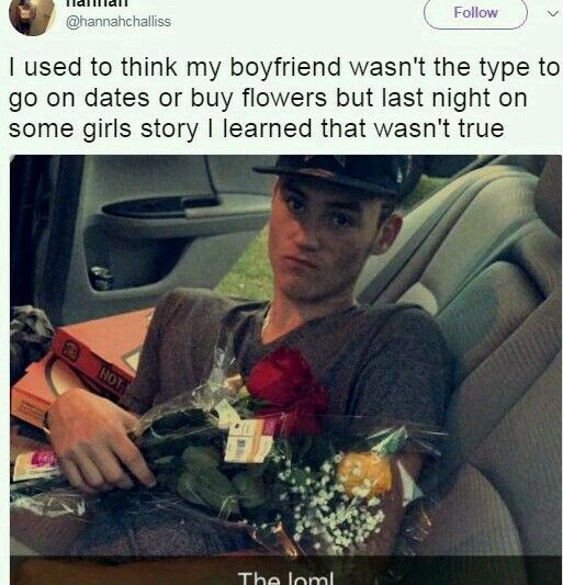 Lady Who Thought Her Boyfriend Doesn't Like Flowers On Dates Find Out He Does But With Other Girls