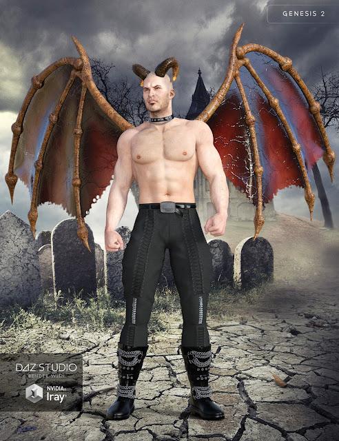 Universal Demon Wings for Genesis 2 Male and Genesis 2 Female