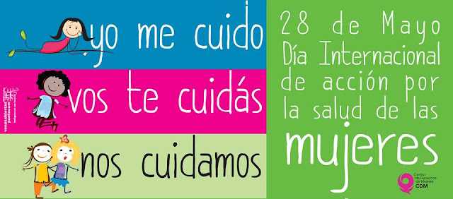 Cartel sobre el Día Internacional de Acción por la Salud de las Mujeres