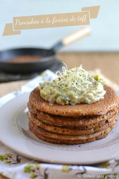 Pancakes salés à la farine de teff - Chandeleur