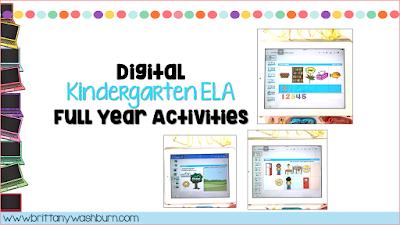 Digital ELA Activities for Kindergarten for the Full Year