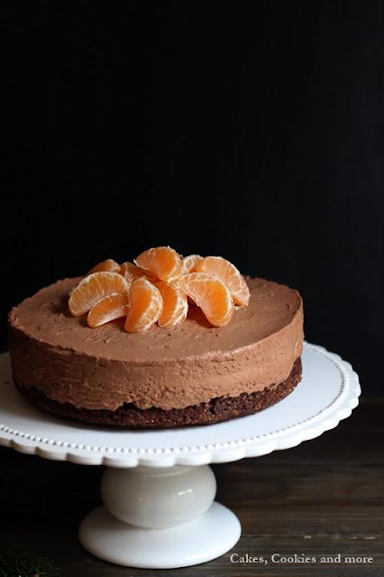 Schokoladen Cheesecake mit Mandarinen