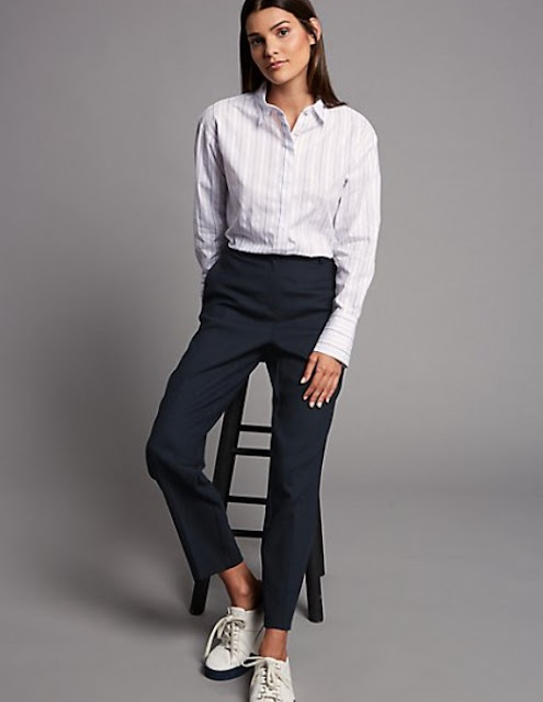marks and spencer slim leg trousers