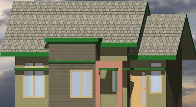 Contoh Desain Rumah Type 54/128