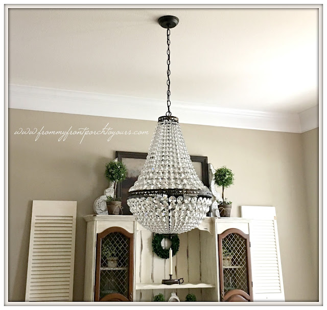 pottery barn-mia-chandelier-suburban farmhouse dining room-from my front porch to yours