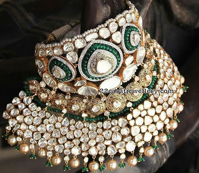 Grand Polki Diamond Chokers by Jaipur Jewels