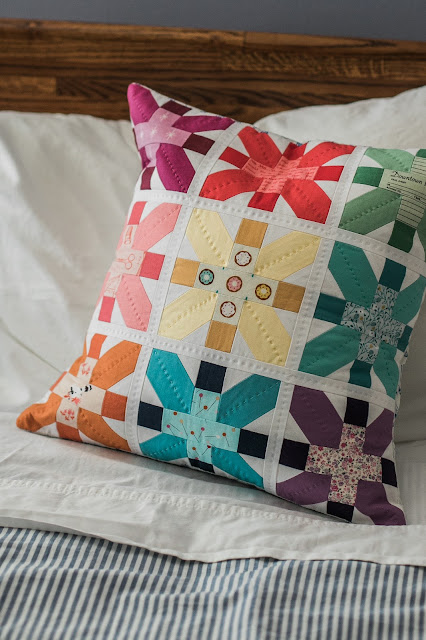 Fireworks Pillow from Patchwork USA by Heidi Staples of Fabric Mutt (Photo by Page + Pixel for Lucky Spool Media)