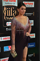 Hansika Motwani in Glittering Deep Neck Transparent Leg Split Purple Gown at IIFA Utsavam Awards 01.JPG