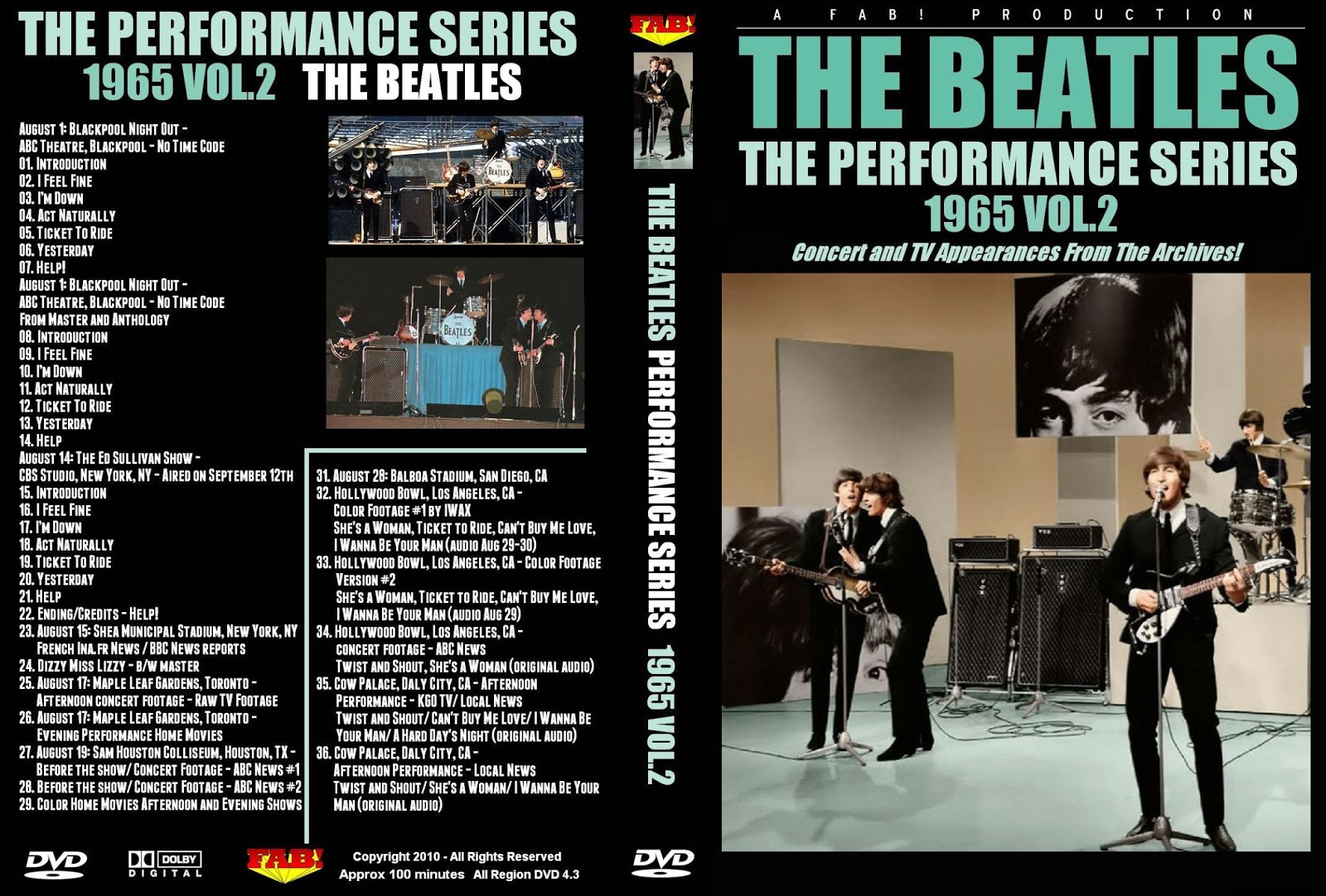 Music TV and Video Archives: THE BEATLES on DVD
