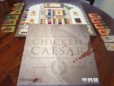 Chicken Caesar board game in play