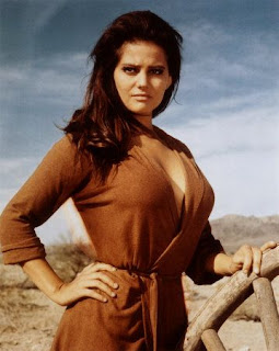 Claudia Cardinale as the ravishing Jill McBain in Once Upon a Time in the West, Spaghetti Western masterpiece, Directed by Sergio Leone