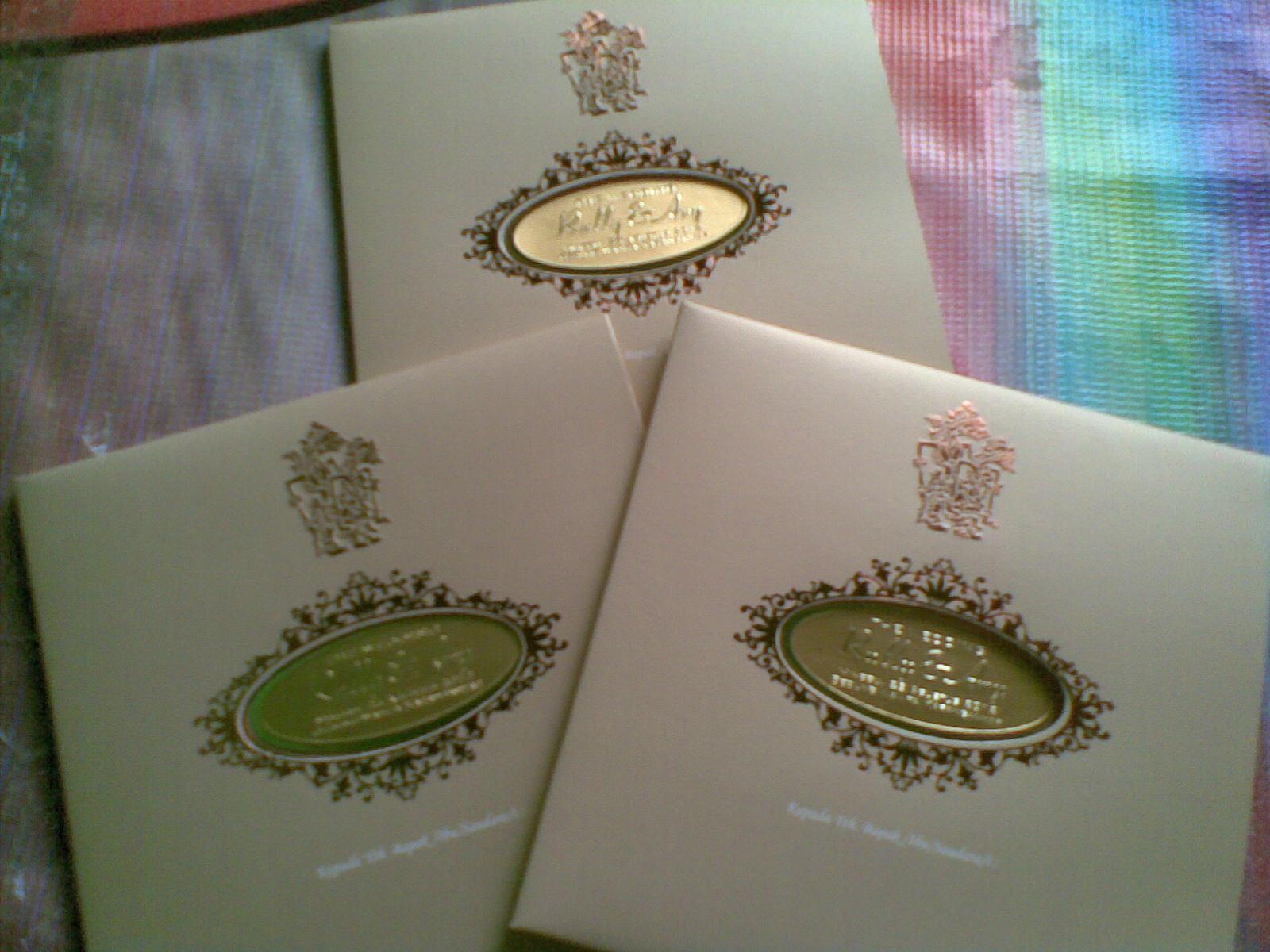 Undangan Pernikahan Emas Enha Hc004 Undangan Paperbag Murah Dan
