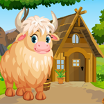 Games4King Cute White Yak Rescue Escape