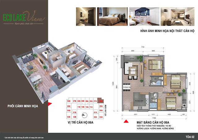 Thiết kế căn hộ 06A chung cư Eco Lake View