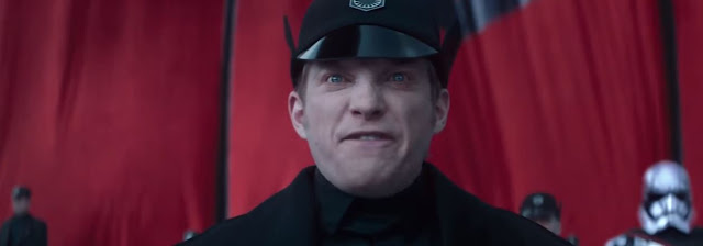 General Hux speech, angry face.