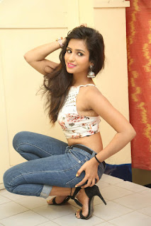 Deekshita Parvathi in a short crop top and Denim Jeans Spicy Pics Beautiful Actress Deekshita Parvathi January 2017 CelebxNext (136).JPG