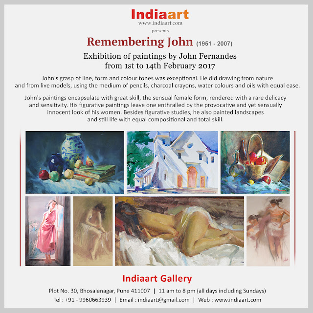 Remembering John - Exhibition of paintings by John Fernandes at Indiaart Gallery, Pune (www.indiaart.com)