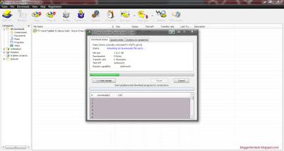 proses resume download idm yang sedang berjalan