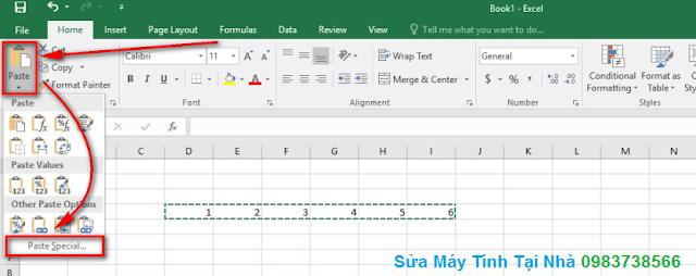 Hướng dẫn chuyển dòng thành cột trong Excel