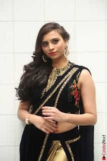 Priyanka Ramana in Beautiful Designer Black Saree At We Craft Elegance Expo Launch 017.JPG