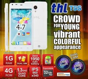 THL T5S, 4.7-inch Quad Core For Php5,999
