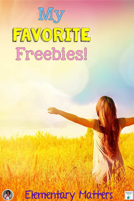 My Favorite Freebies: This post contains 8 different freebies, in literacy, math, social studies, and science.