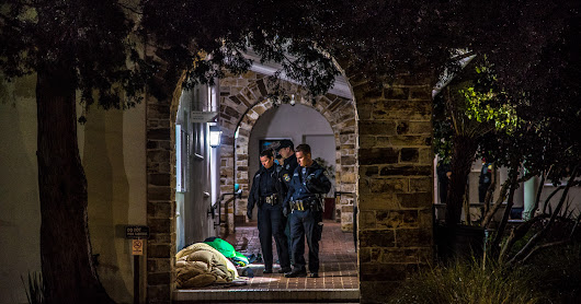 After Rain, Santa Cruz Police Eject Homeless Individuals Sleeping at City Hall and Make One Arrest