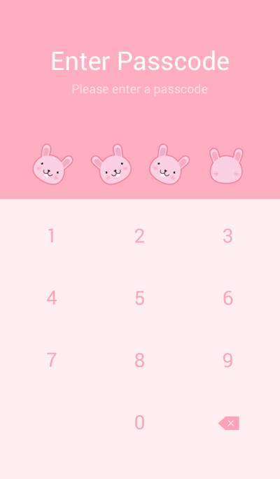 Simple Cute Pink Rabbit theme