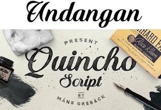 Download 40+ Font Latin Keren Untuk Desain Undangan Pernikahan, Quincho Script