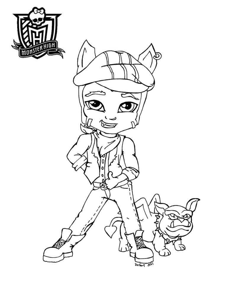 awesome monster high colorir with coloriage de monster high