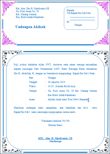 Download Template Undangan Aqiqah 13