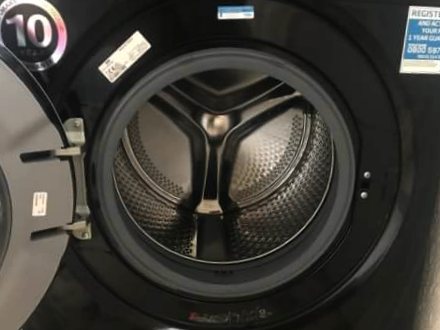 Inside the drum of the Beko 9kg Washing Machine