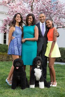 Obama Family Portrait, 2015, by Pete Souza for the White House  [Public Domain]