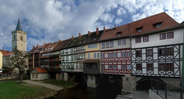 Alemanha: as pontes mais fantásticas! Krämerbrücke, Erfurt