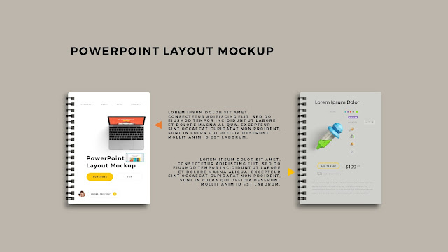 Infographic Spiral Book PowerPoint Mockup Template Slide 7