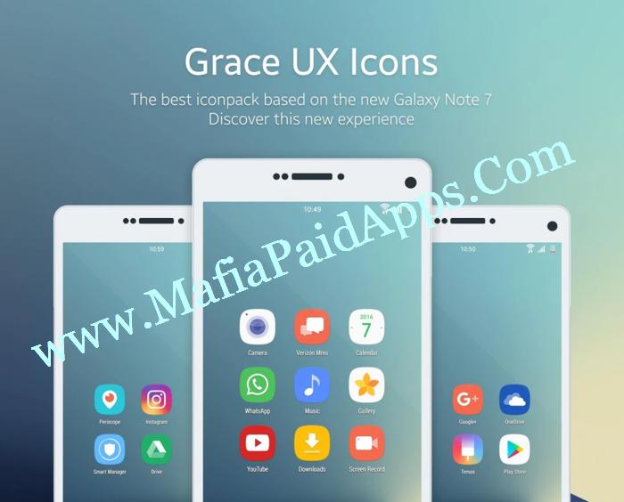 Grace UX - Icon Pack v5 3 0 Apk | MafiaPaidApps com